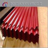 Hoja de acero galvanizada prepintada del material para techos acanalado