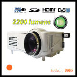 Alto brillo LED 1080p en un proyector digital DVB-T para cine en casa (D9H)