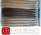 100%年のRemyのブラジルの平らな先端の人間の毛髪の拡張