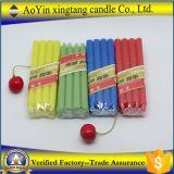 Partido regalos de los favores de colores de cera de parafina palillo de la vela
