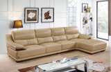 ソファーの家具セット、実質の革ソファー、L形の革ソファー(650)