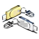 Zoll USB-grelle Platte mit Schlüsselkette, Metallsplitter USB-Blitz-Laufwerk