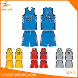 Healongのカスタム印刷のバスケットボールのジャージーのバスケットボールのユニフォーム