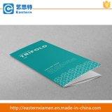 Brochure repliée à trois design élégant