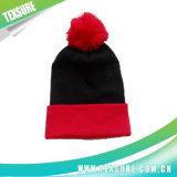 Подгонянные шлемы Beanies зимы вышивки связанные равниной с шариком (103)