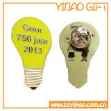 エナメルの黄色(YB-SM-50)のカスタム電球の折りえりPin