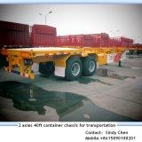 ISO CCC는 2개의 차축 40ft 콘테이너 포좌 트레일러를 승인했다