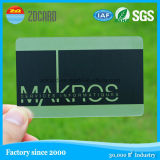 Cartão de visita de jato de tinta transparente de PVC de folha de ouro