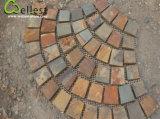 Giardino arrugginito/patio della pietra per lastricati dell'ardesia della maglia dell'ardesia di Wellest che pavimenta la pietra della maglia