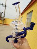De goedkoopste Waterpijp van het Glas met Blauwe Kleur in Voorraad