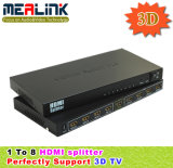 1 - 8 HDMI Splitter 3D (CE, FCC, RoHS Approved, YL0108)