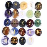 Scultura di pietra delle fette di cristallo delle rune della pietra semi preziosa