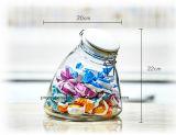 Vaso di vetro speciale impostato con il coperchio della clip del metallo