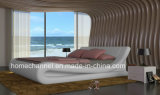 Ходкая кровать кожи мебели спальни самомоднейшей конструкции (HC020)