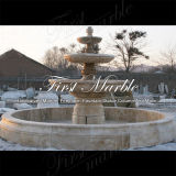 Simple Big Travertine Fountain pour décoration intérieure Mf-664