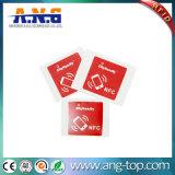 Round 13.56MHz etiquetas RFID de papel autocolante com Ntag213