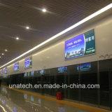 LEDのアルミニウムフレームの天井ハングの広告媒体PVC旗のライトボックスの表記
