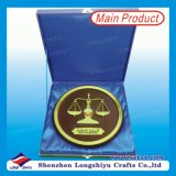 Qutar Libra Round Wooden Shield Trophy Plaque mit Box