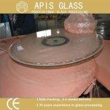 6mm personalizou o vidro Tempered oval de partes superiores de tabela da forma com bordas Polished