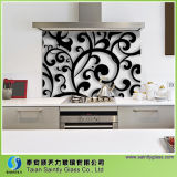 4mm 5mm Cuisine trempée Splashback Glass with Silk Screen Printing