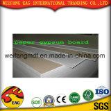 Tarjeta de yeso de papel/azulejo/tarjeta blancos del techo del yeso del PVC del color con la parte posterior del papel de aluminio
