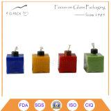 Lámpara de aceite de color de vidrio de la forma de la bola, tanque de aceite con la mecha