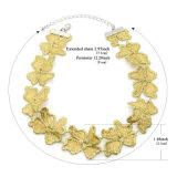 Couleur Dorée Fleur au crochet fait main simple pour les femmes Dame Choker colliers Collier femme Bijoux
