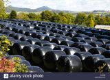 農業のパッキング使用の干し草のオーストラリア750X1500X25umのためのプラスチックサイレージのフィルム