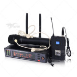 ATX100/Wl93 Lavalier UHFの本当の多様性のデジタル単一チャネルの無線電信のマイクロフォン