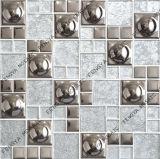 Folha de ouro de prata polido mosaico, China Crystal Mosaico, Electroplated mosaico cerâmico (348 FJ06S)