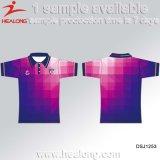 Healongのカスタムスポーツ・ウェアによって個人化される昇華印刷の人のポロのTシャツ