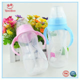 Breite Milchflaschen des Stutzen-pp. mit automatischem Stroh