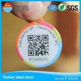 El código QR de papel de impresión de etiquetas NFC