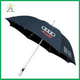 Nouvelle Promotion de la publicité en aluminium léger gros bâton de pluie Parapluie unique avec logo
