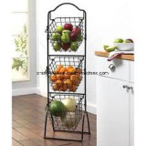 3 Tiers Vegetable Fruit Chrome Rack de armazenamento de metal
