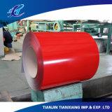 Покрынный цвет материала толя Ral3002 гальванизировал стальную катушку