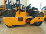 Tonne Yzc2 du compacteur 2 de rouleau de matériel de route de saleté mini