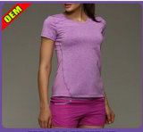 Moda T-shirt Beautifule impresso para as mulheres (W180)