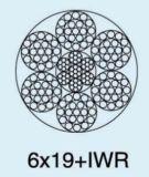 직류 전기를 통한 백색 PVC 철강선 밧줄 6X19+FC 6mm