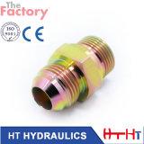 Mâle hydraulique de Jic d'adaptateur de boyau de coude d'acier inoxydable (1J9)