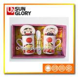 Коробка подарка соединяет кружку кофеего с бухточкой & ложку Qlb010