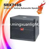 옥외 Srx718s는 18 인치 Subwoofer 상자 스피커를 골라낸다
