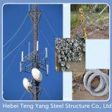 Микроволновая печь Guyed башни антенны для связи