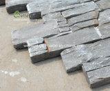 أردواز رماديّ طبيعيّ يكدّر حجارة, جدار حجارة قشرة مع إسمنت جير قاعدة