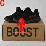 . Сезон 2017 подталкивания 350 Kanye западный Yezzy идущих ботинок женщин людей персика Sply 350 белуги подталкивания V2 Yeezy 350 черный белый черный 3 с коробкой