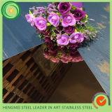 Colorer la plaque décorative de la feuille 304 d'acier inoxydable de miroir pour la construction