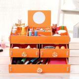 Caixa de armazenamento cosmética Super-Large do estilo novo da fábrica, caixa de armazenamento Desktop de madeira de DIY
