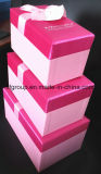High End Compétition Prix Stock Rose Color Nesting Gift Boxes