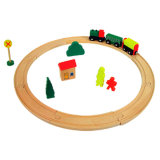 En71 Certificateの木のToy Train Rail (19PCS)