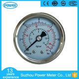 2pouce Type en acier inoxydable Les jauges de pression hydraulique avec huile de silicone